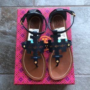 Tory Burch Phoebe flat thong sandal.